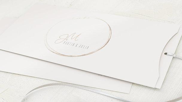 Hochzeitseinladung - Goldhauch