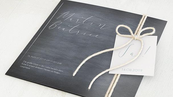 Hochzeitseinladung - Kreidestrich