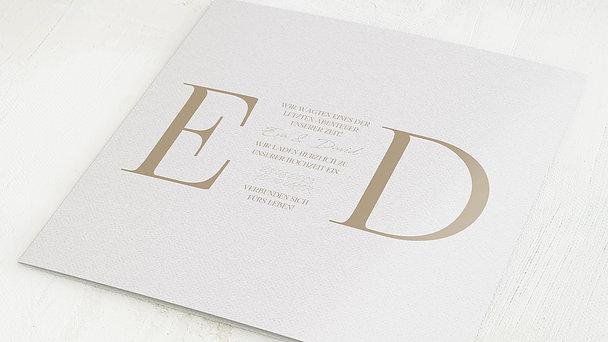 Hochzeitseinladung - Golddruck