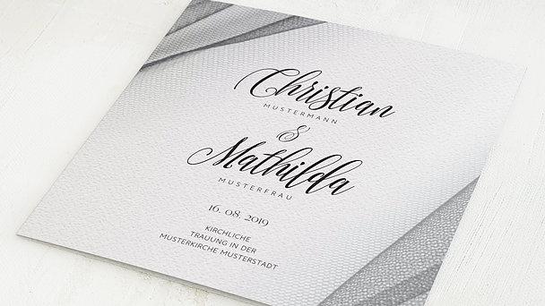 Hochzeitseinladung - Tüllband