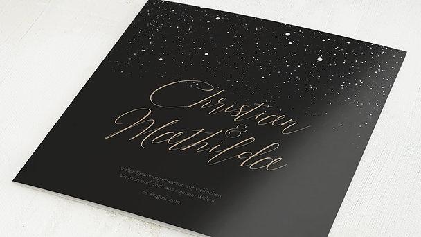 Hochzeitseinladung - Sternenschar