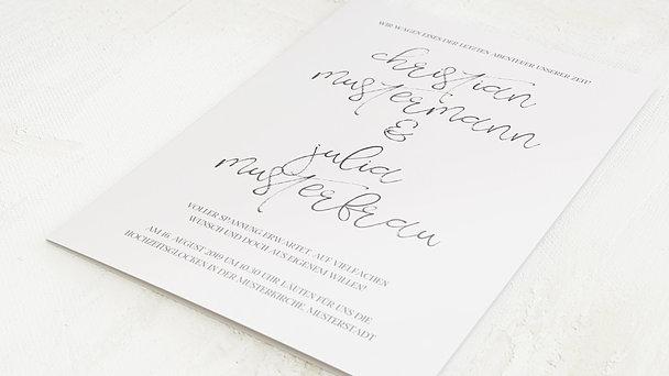 Hochzeitseinladung - Silhouette