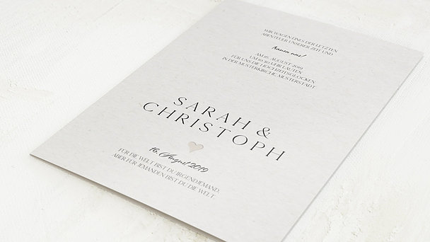 Hochzeitseinladung - Lettering