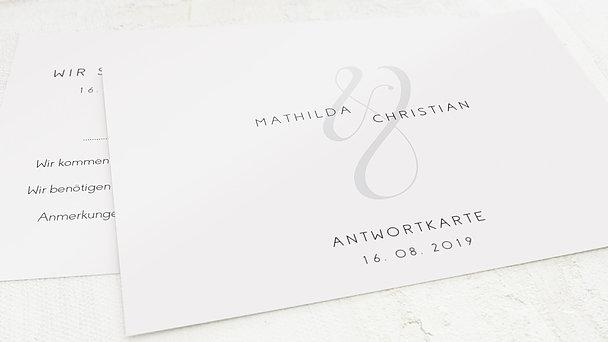 Antwortkarte Hochzeit - Volute