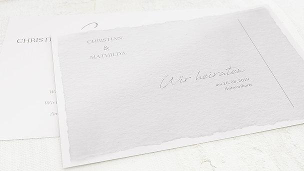 Antwortkarte Hochzeit - Pergament