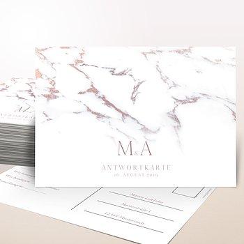 Antwortkarte Hochzeit - Marmoriert