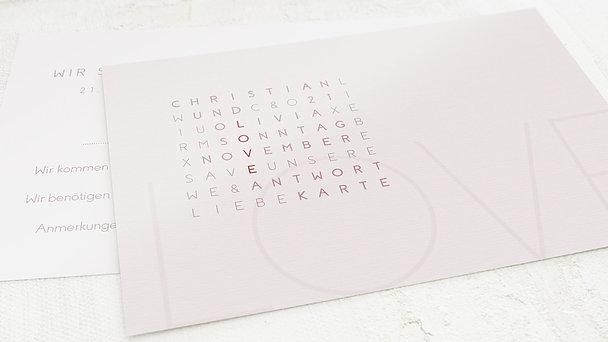 Antwortkarte Hochzeit - Liebesquiz