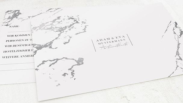 Antwortkarte Hochzeit - Silbersprenkel