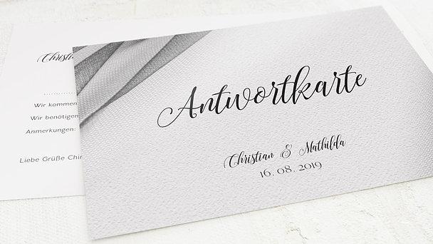 Antwortkarte Hochzeit - Tüllband