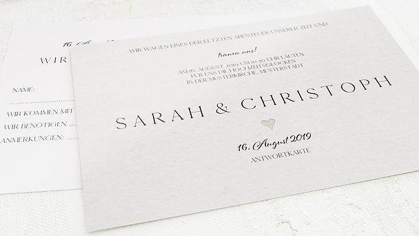 Antwortkarte Hochzeit - Lettering