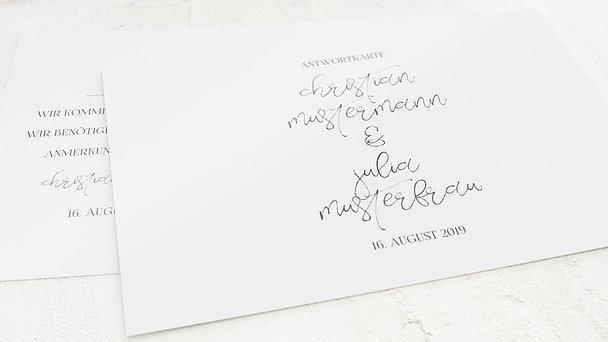 Antwortkarte Hochzeit - Silhouette