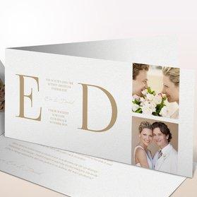 Danksagungskarten Hochzeit - Golddruck