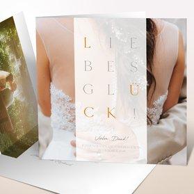 Danksagungskarten Hochzeit - Liebesgitter