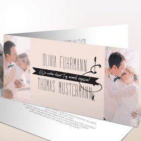 Danksagungskarten Hochzeit - Lollipop