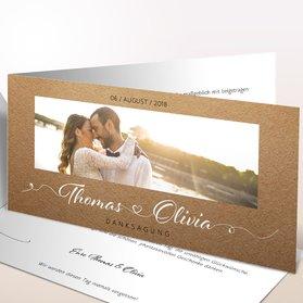 Danksagungskarten Hochzeit - Zuckerherz