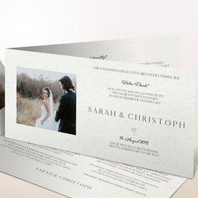 Danksagungskarten Hochzeit - Lettering