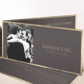 Danksagungskarten Hochzeit - Für die Ewigkeit