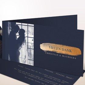 Danksagungskarten Hochzeit - Kupferglanz