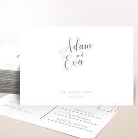 Antwortkarte Hochzeit - Poesie