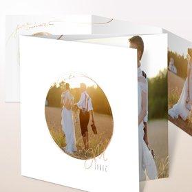 Danksagungskarten Hochzeit - Goldhauch