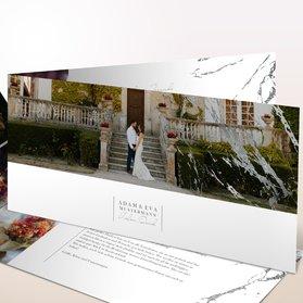 Danksagungskarten Hochzeit - Silbersprenkel