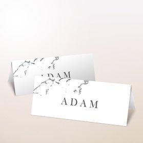 Tischkarten Hochzeit - Silbersprenkel