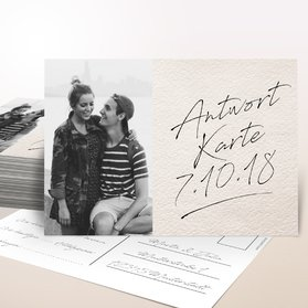 Antwortkarte Hochzeit - Notizblatt