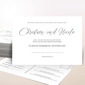 Antwortkarte Hochzeit - Reinschrift