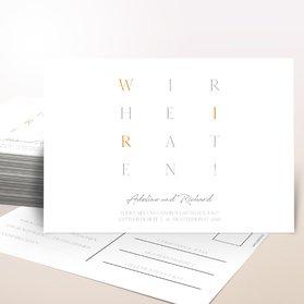 Antwortkarte Hochzeit - Liebesgitter