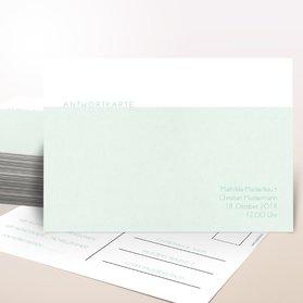 Antwortkarte Hochzeit - Peppermint