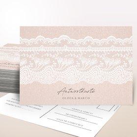 Antwortkarte Hochzeit - Bordüre