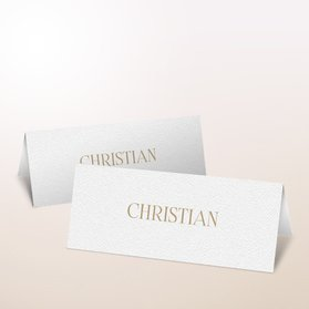 Tischkarten Hochzeit - Golddruck