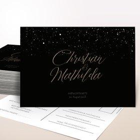 Antwortkarte Hochzeit - Sternenschar