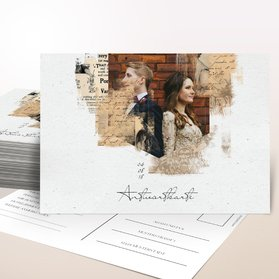 Antwortkarte Hochzeit - Scrapbook