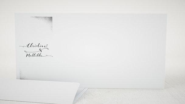 Umschlag mit Design Hochzeit - Aquarello