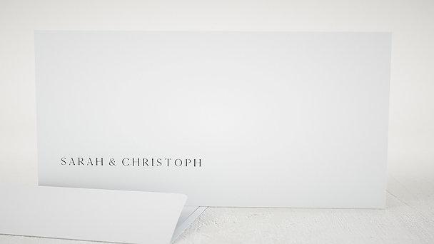 Umschlag mit Design Hochzeit - Lettering