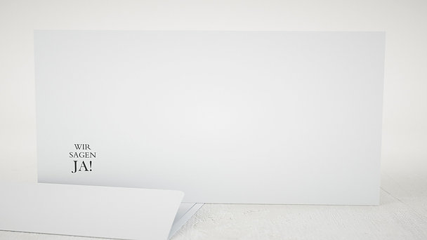 Umschlag mit Design Hochzeit - Reinschrift