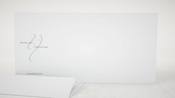 Umschlag mit Design Hochzeit - Volute