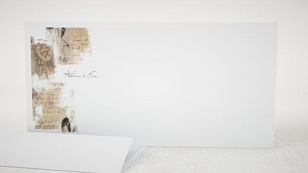 Umschlag mit Design Hochzeit - Scrapbook