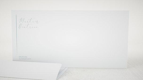 Umschlag mit Design Hochzeit - Kreidestrich