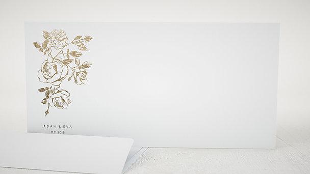 Umschlag mit Design Hochzeit - Follie