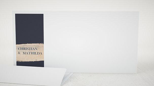 Umschlag mit Design Hochzeit - Kupferglanz