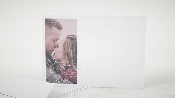 Umschlag mit Design Hochzeit - Besiegelt