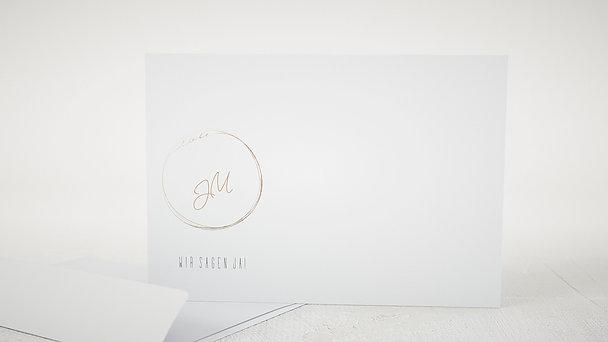 Umschlag mit Design Hochzeit - Goldhauch