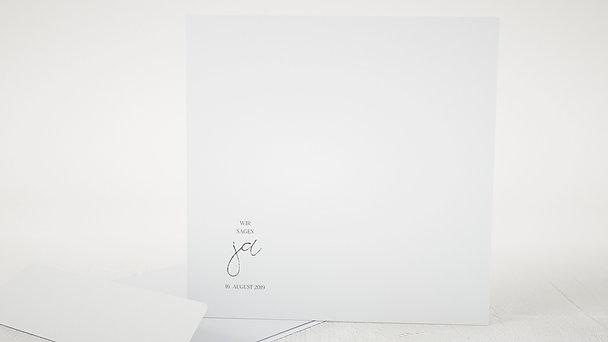Umschlag mit Design Hochzeit - Silhouette