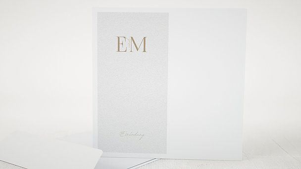 Umschlag mit Design Hochzeit - Golddruck