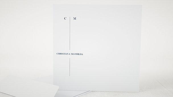Umschlag mit Design Hochzeit - Deep Blue