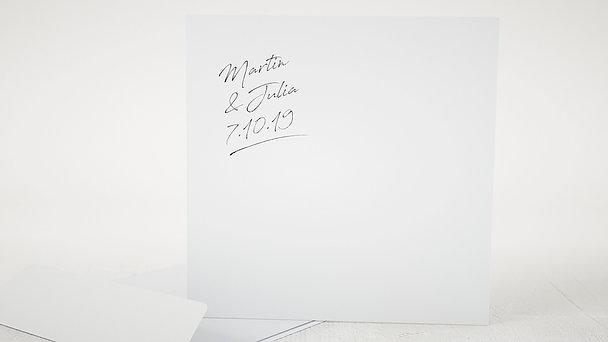 Umschlag mit Design Hochzeit - Notizblatt