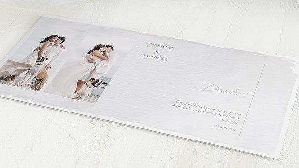 Danksagungskarten Hochzeit - Pergament