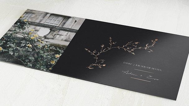 Danksagungskarten Hochzeit - Rosenranke